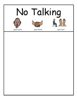 PICTURE SORT: Appropriate Times to Talk
