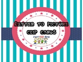 PICTURE TO LETTER CLIP CARDS