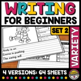 PICTURE WRITING PROMPTS KIDS 2ND 1ST GRADE WRITING COMPLETE SENTENCE STARTERS