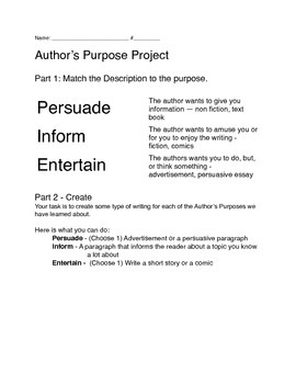 PIE - Author's Purpose Project