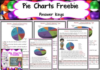 PIE CHARTS/ PIE GRAPHS FREEBIE
