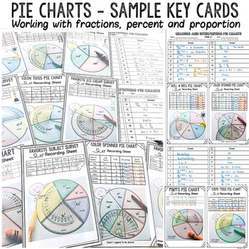 PIE CHARTS/GRAPHS TASK CARDS