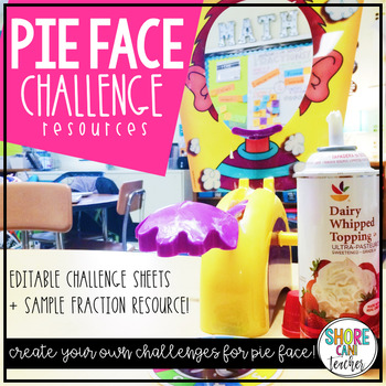 PIE FACE CHALLENGE - Editable Challenge Templates to use with Pie Face!
