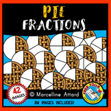 PIE FRACTIONS CLIPART: FOOD FRACTIONS CLIPART: MATH CLIPART