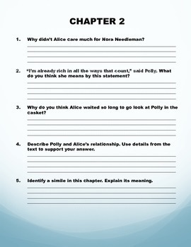 PIE by Sarah Weeks Comprehension Questions