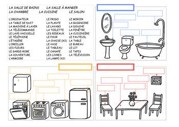 Pieces Et Meubles La Maison Set By Esl And More Tpt