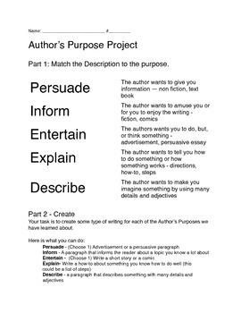 PIEED Author's Purpose Project