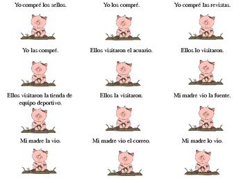 PIG Game with Direct Object Pronouns