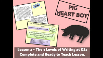 PIG HEART BOY 2 - Writing Assessment in Year/Grade 6 - Complete Lesson