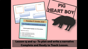 PIG HEART BOY -GRADE 5/ 6 - LESSON 13 AND 14 - TO PLAN AND WRITE A NARRATIVE
