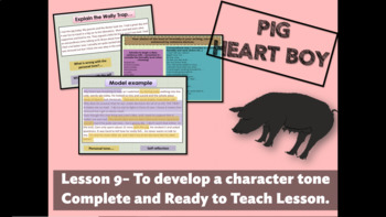 PIG HEART BOY -GRADE 5/ 6 - LESSON 9 - TO DEVELOP A CHARACTER TONE AND VOICE
