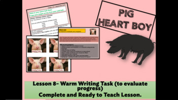 PIG HEART BOY - Grade 5/6 - LESSON 8 - WARM TASK TO EVALUATE PROGRESS
