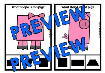 PIG SHAPES CENTER (KINDERGARTEN GEOMETRY ACTIVITIES)