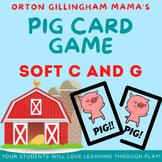 PIG Soft c and Soft g card game- Orton Gillingham