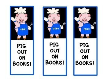 FREE PIG THEME BOOK MARKERS!