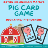 PIG consonant digraphs (h brothers) card game