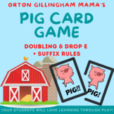 Orton Gillingham Activities: PIG game: Doubling & Drop e + suffix rules