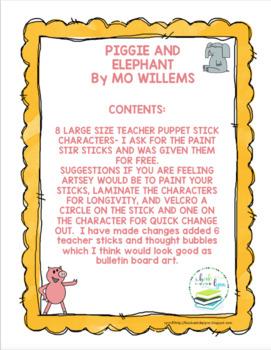 PIGGIE AND ELEPHANT TEACHER PUPPETS