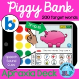 PIGGY BANK Apraxia Deck: BOOM Cards for SPEECH TELETHERAPY