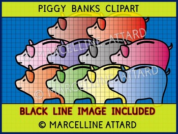 PIGGY BANKS CLIPART: GREAT TO COMBINE WITH OTHER MONEY CLIPART FOR RESOURCES