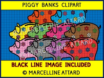 MATH CLIP ART: PIGGY BANKS CLIPART: GREAT ADDITION TO MONEY CLIPART