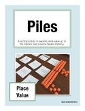 PILES (Place Value): Sorting Activity for Math Talk (Grades 2-4)