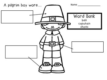 PILGRIM CLOTHING VOCABULARY