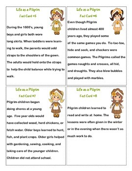 PILGRIM LIFE in 1620's - Informational Reading & Writing Activities
