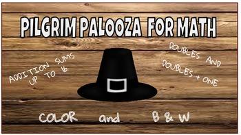 PILGRIM PALOOZA Printables Addition up to 16   Common Core Math