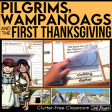 PILGRIMS | NATIVE AMERICANS | FIRST THANKSGIVING | Lapbook | WAMPANOAG |