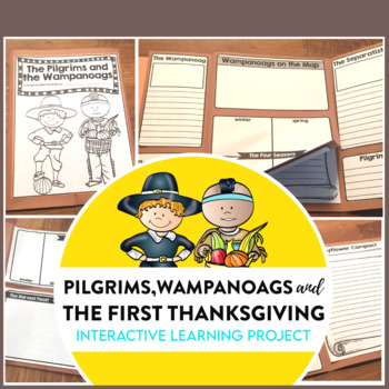 PILGRIMS   NATIVE AMERICANS   FIRST THANKSGIVING   Lapbook   WAMPANOAG  