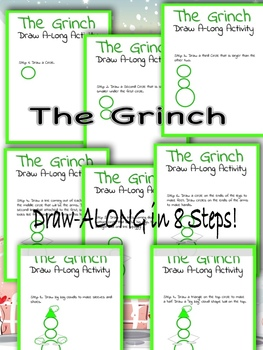 PIN THE HEART ON THE GRINCH + Draw-Along Activity!