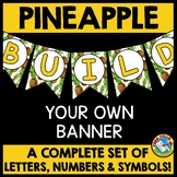 PINEAPPLE BULLETIN BOARD LETTERS BUNTING BANNER (PINEAPPLE