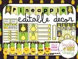 PINEAPPLE DECOR {Green, Black & Yellow}