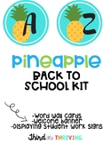 PINEAPPLE Word Wall Labels, Welcome Banner, and Displaying