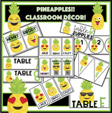PINEAPPLES!! Classroom Decor- Labels, signs, etc. *EDITABLE* -GROWING!