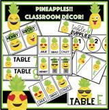 PINEAPPLES!! Classroom Decor- Labels, signs, etc. *EDITABL