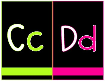 PINK AND LIME ALPHABET FREEBIE