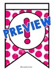 PINK BULLETIN BOARD LETTERS PRINTABLE (PINK CLASSROOM DECOR BANNERS)