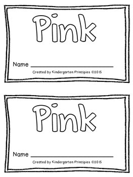 PINK: Emergent Reader (Common Core Aligned)