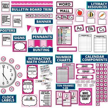 PINK Classroom Decor EDITABLE