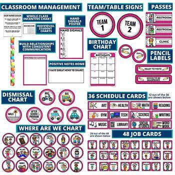 PINK Classroom Theme EDITABLE