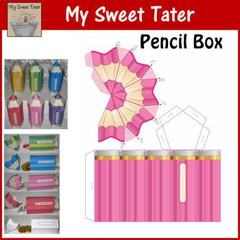 PINK Pencil Box Printable