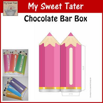 PINK Pencil Candy Bar Envelope