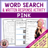 PINK Word Search and Research Activity for Middle School Music