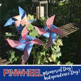 PINWHEEL - 4th of July / Memorial Day- DIY Patriotic Weeke