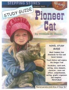 PIONEER CAT Reading Novel Study Guide Oregon Trail CCSS ELA HISTORY!