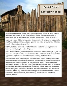 PIONEERS Frontier Americans Social Studies Unit Boone Crockett  Buffalo Bill