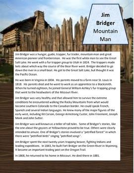 PIONEERS Frontier Americans Social Studies Unit Boone Crockett  Buffalo Bill