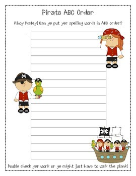 PIRATE ABC ORDER